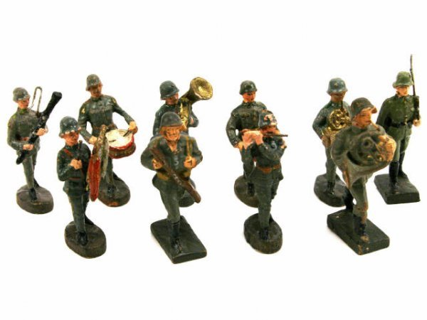 LINEOL ELASTOLIN GERMAN SOLDIER MARCHING BAND LOT