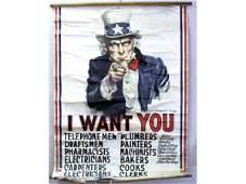 ORIGINAL U.S. WWI I WANT YOU POSTER