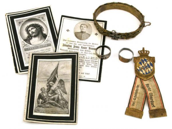 WWI GERMAN ITEMS INCLUDING TRENCH ART