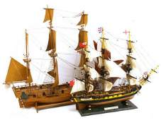 WOODEN SAIL BOAT MODEL HMS SURPRISE HMS PEREGRINE