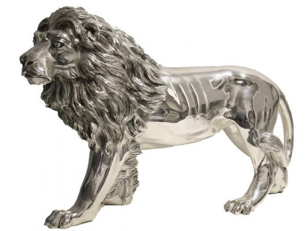 ITALIAN STATUARY STERLING SILVER LION