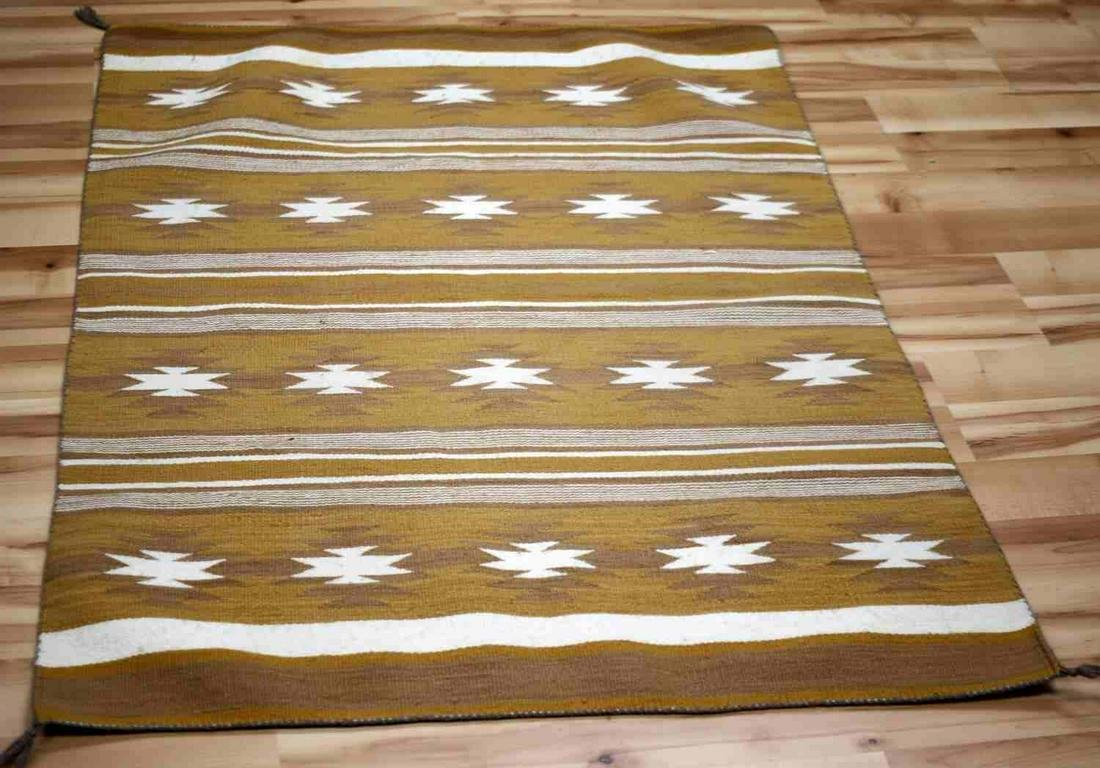 NAVAJO INDIAN EARLY CHINLE SQUASH BLOSSOM BLANKET