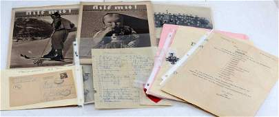 WWII GERMAN THIRD REICH ORIGINAL DOCUMENTS & MORE