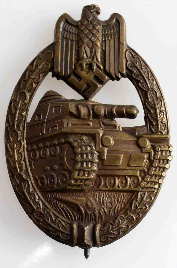 WWII GERMAN THIRD REICH PANZER ASSAULT BADGE