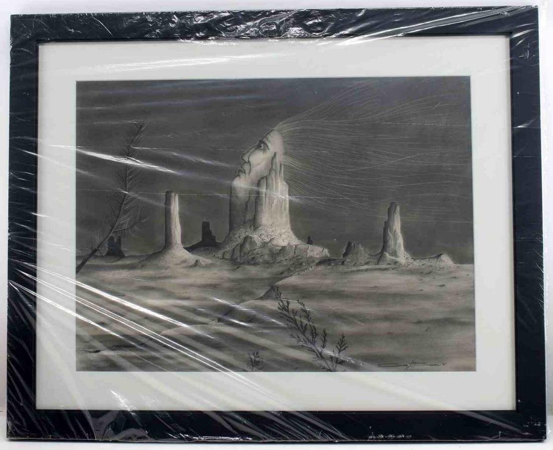 GREG BOWEN ORIGINAL SOUTHWESTERN CHARCOAL ART