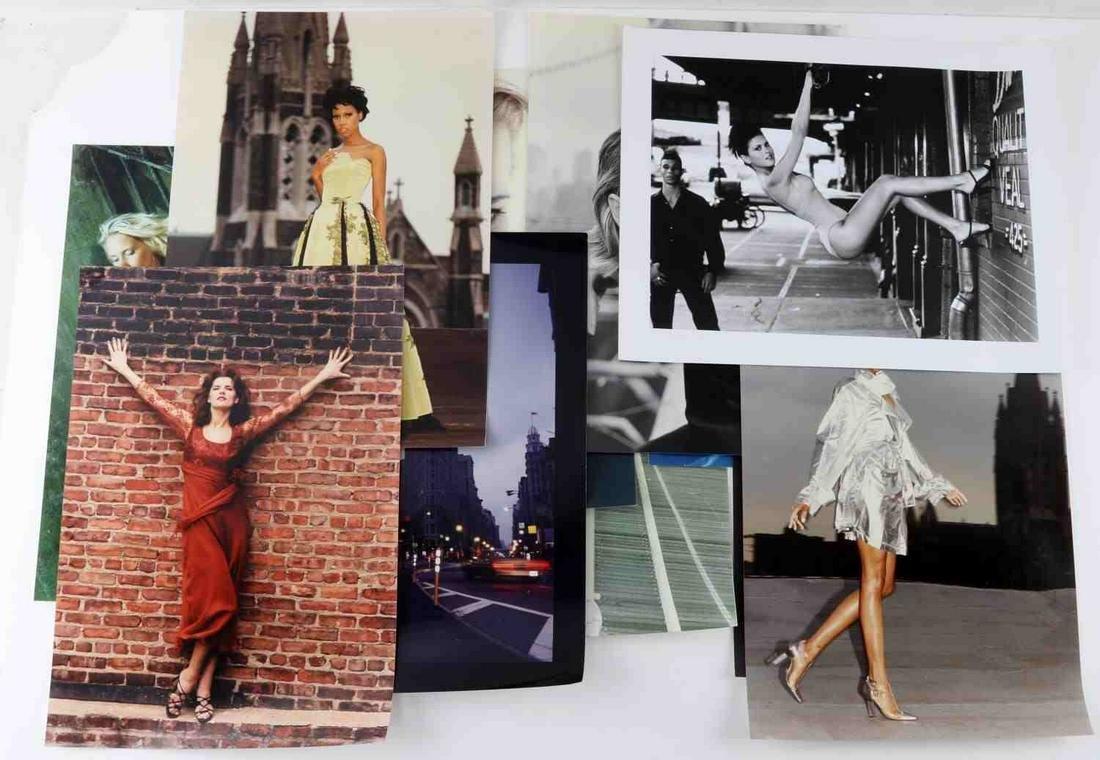 LOT 11 FASHION PHOTOGRAPHY PRINTS OF MODELS NYC