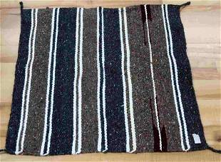 STRIPED SQUARE MEXICAN WEAVE SADDLE BLANKET