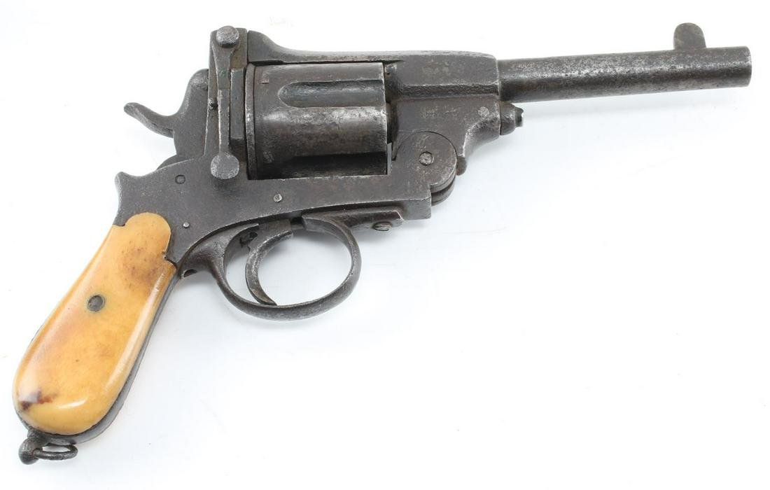BELGIAN GASSER TYPE 11 MM ANTIQUE REVOLVER