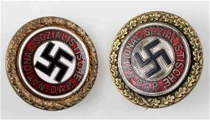 WWII GERMAN THIRD REICH GOLDEN PARTY BADGE LOT