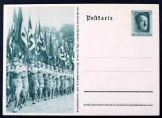 WWII GERMAN THIRD REICH RALLY PHOTO POSTCARD