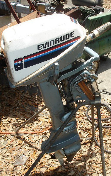 EVINRUDE FIRE POWER 6 OUTBOARD MARINE MOTOR