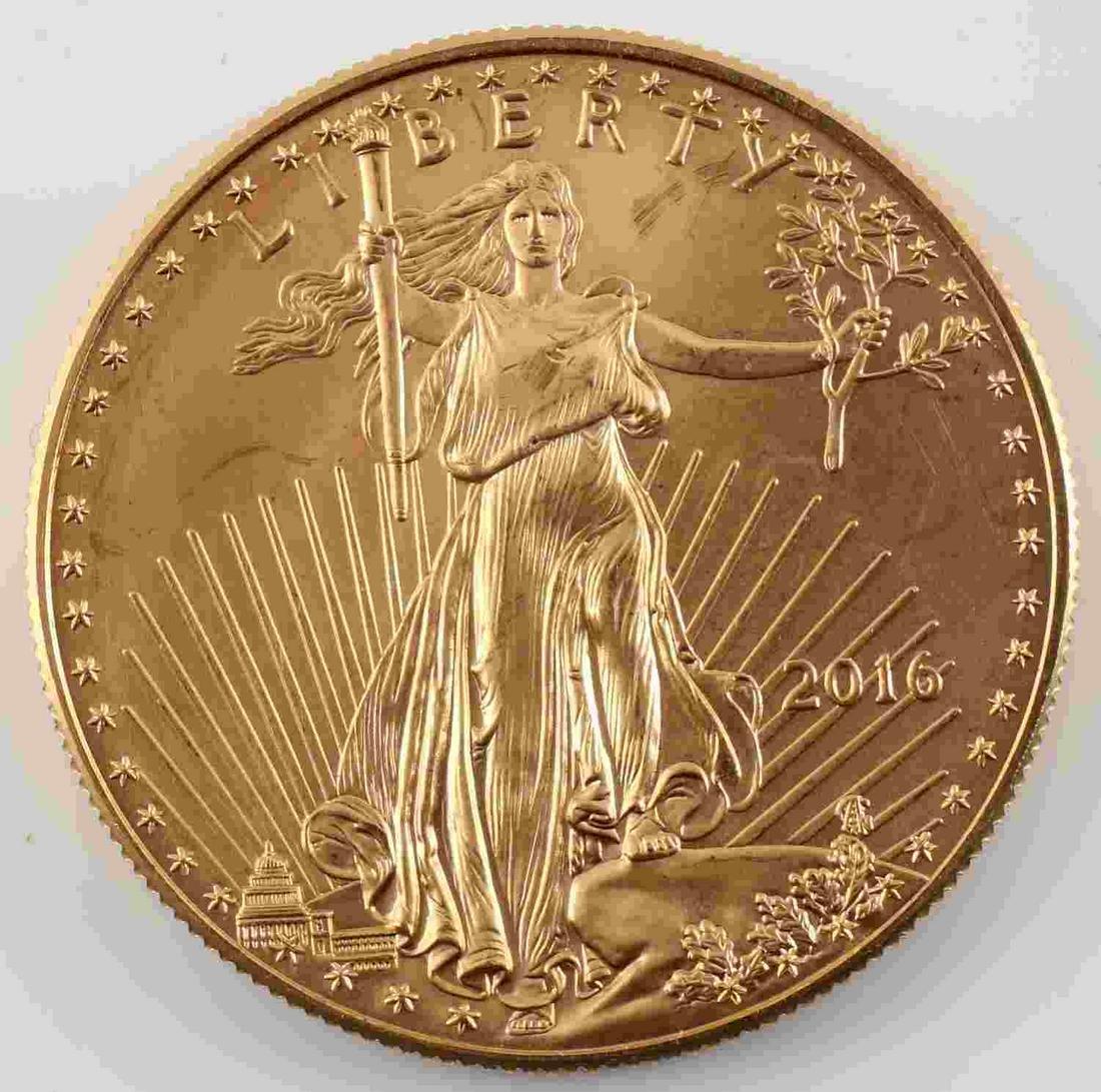 2016 GOLD AMERICAN EAGLE $50 1 OZ .999 FINE COIN