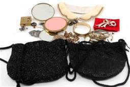 ANITQUE VINTAGE COSTUME JEWELRY PURSE LOT