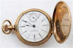 US WATCH CO WALTHAM POCKET WATCH ROLLED GOLD