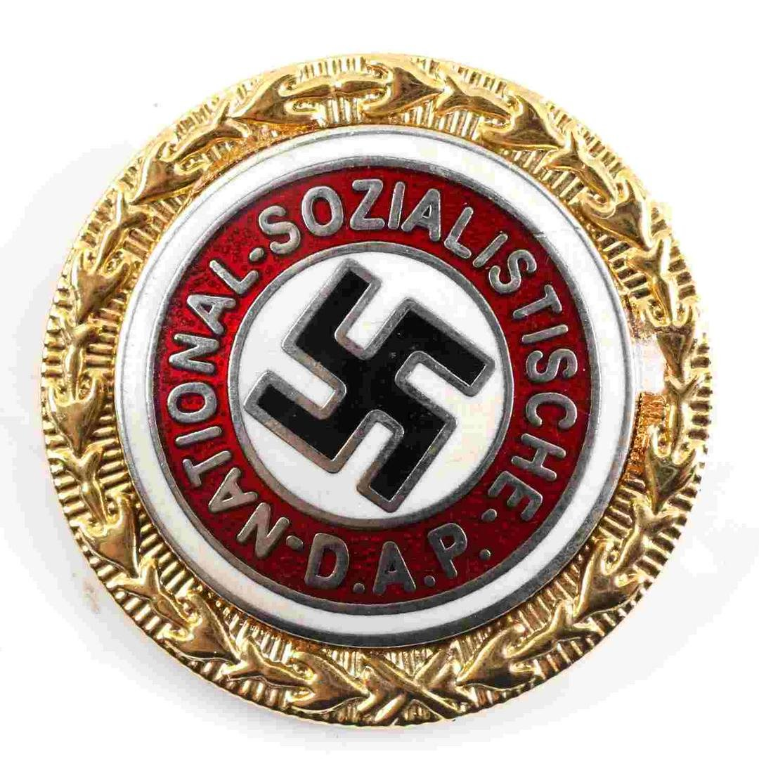 WWII GERMAN THIRD REICH NSDAP GOLD PARTY BADGE