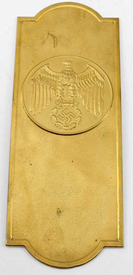 WWII GERMAN REICHS CHANCELLERY EAGLE DOOR PLAQUE