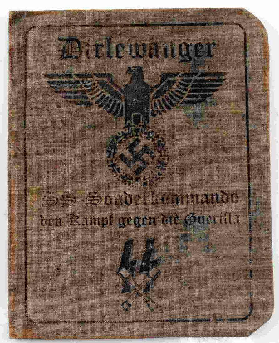 WWII GERMAN WAFFEN SS DIRLEWANGER SOLDIER ID BOOK