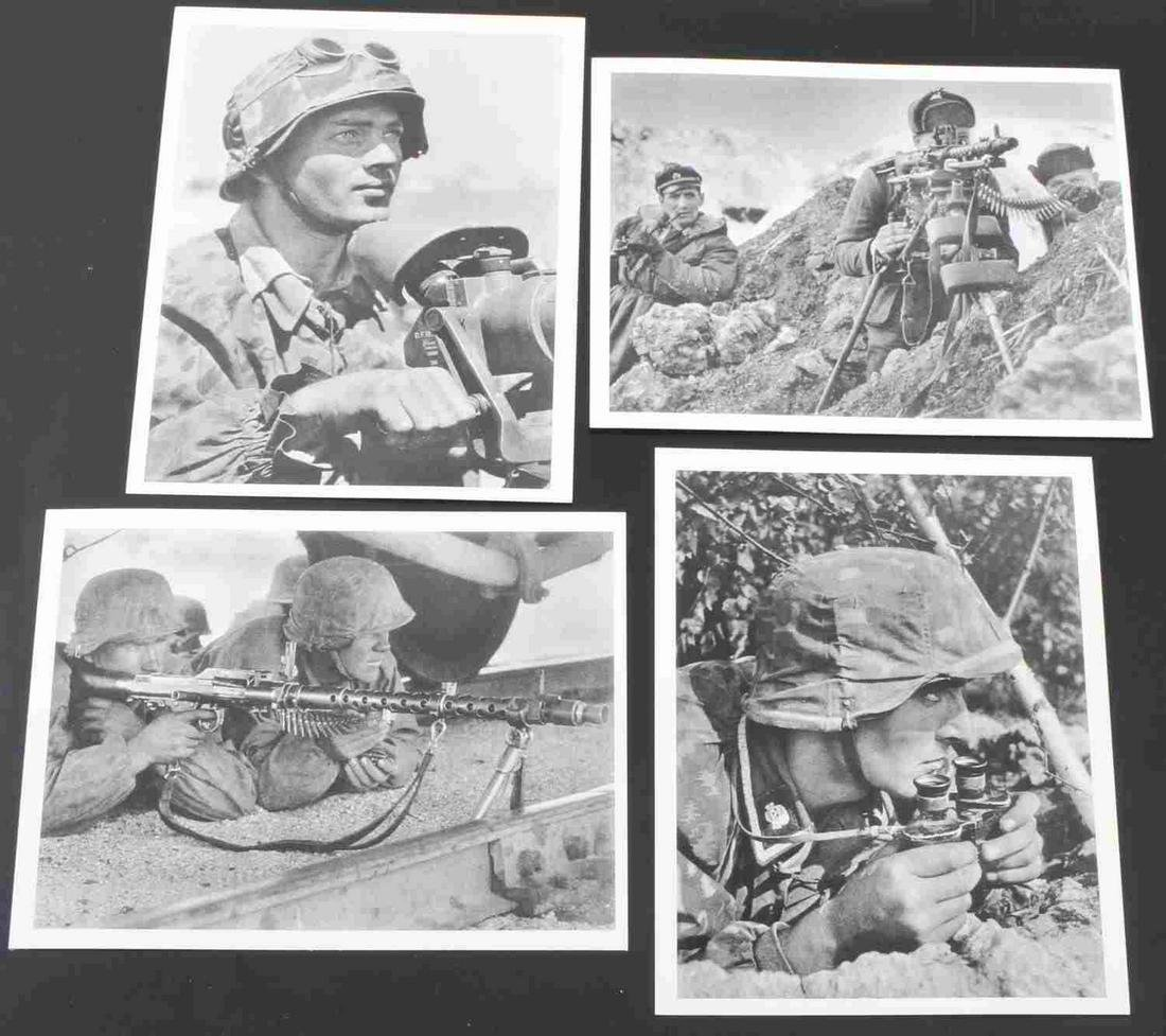 WWII GERMAN WAFFEN SS SOLDIER POST CARD LOT OF 4