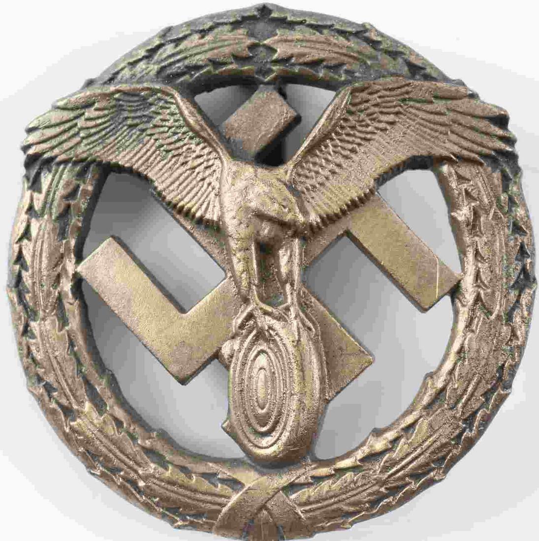 WWII GERMAN THIRD REICH MOTOR SPORT GOLD BADGE