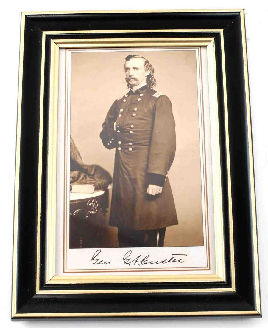 UNITED STATES ARMY GENERAL GEORGE A CUSTER PHOTO