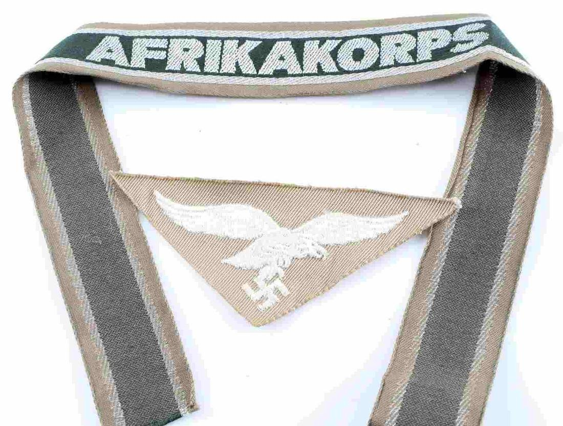 GERMAN WWII ARMY AFRIKA KORPS OFFICERS CUFF TITLE