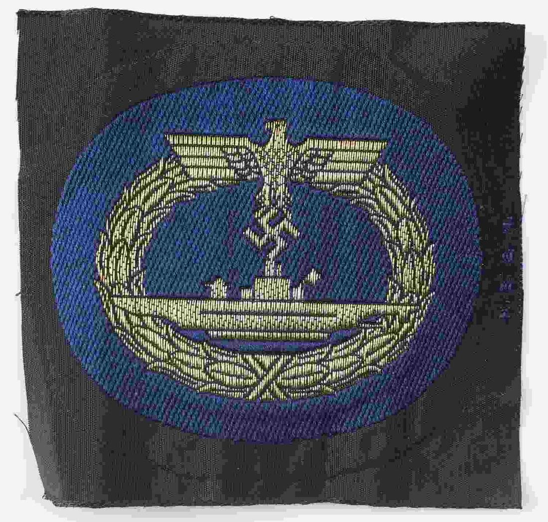 WWII GERMAN NAVAL KRIEGSMARINE U BOAT PATCH