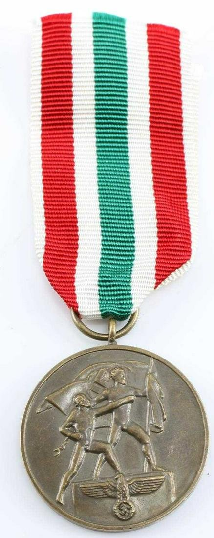 WWII GERMAN 1939 MEMEL LANDS DECORATION AND MEDAL