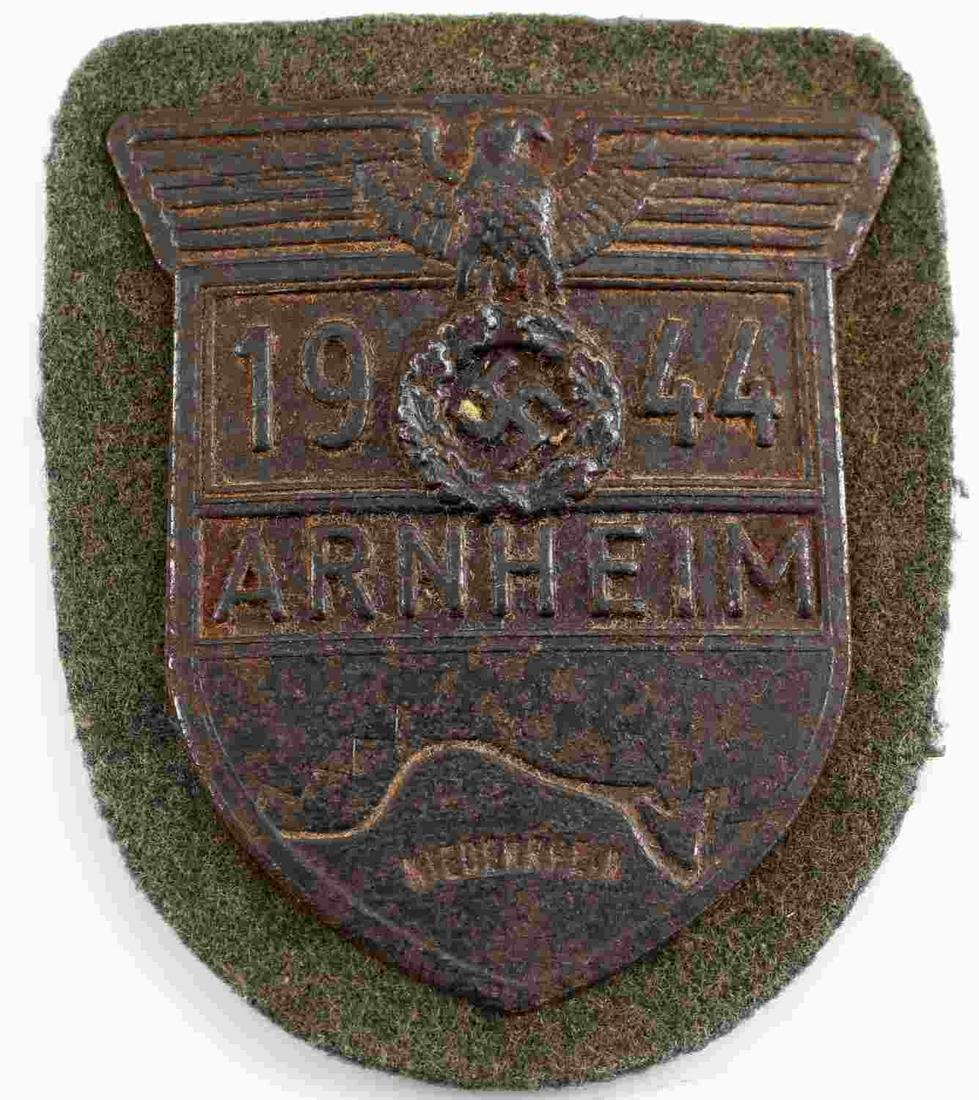 WWII GERMAN WEHRMACHT 1944 ARNHEIM SLEEVE SHIELD