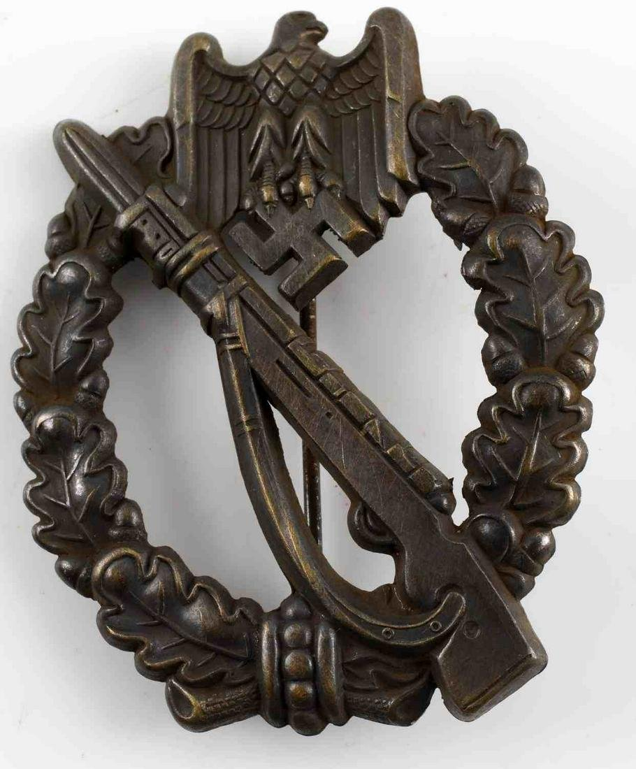 WWII GERMAN ARMY BRONZE INFANTRY ASSAULT BADGE
