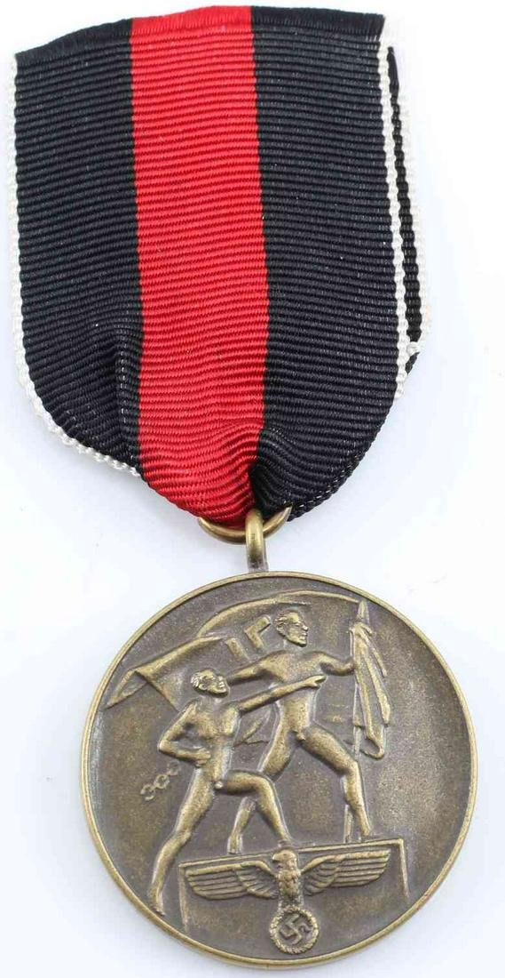 WWII GERMAN 1938 CZECHOSLOVAKIAN ANNEXATION MEDAL