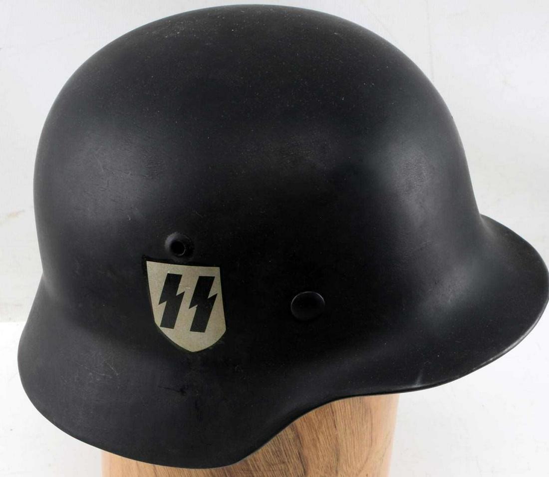GERMAN WWII ALLGEMEINE SS M-35 DOUBLE DECAL HELMET