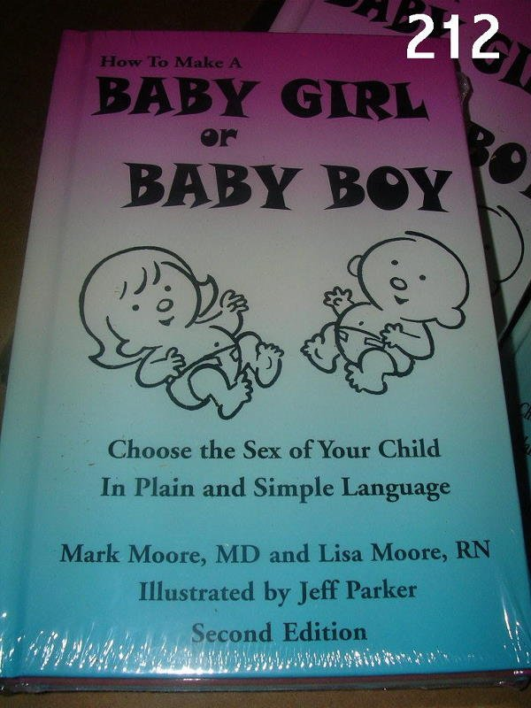 "30212: ""MAKE BABY BOY OR GIRL"" BOOK CASE BY MARK MOORE"