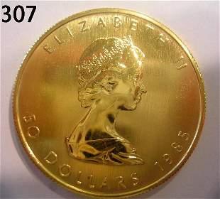 CANADA GOLD MAPLE LEAF 1985 1 OZ - PURE GOLD