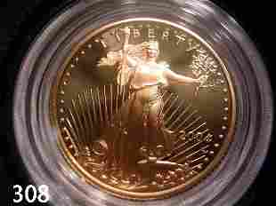 US AMERICAN GOLD EAGLE 2004 1/4 OZ PROOF IN BOX