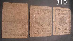 US COLONIAL CURRENCY LOT OF 3: 1776 MARYLAND