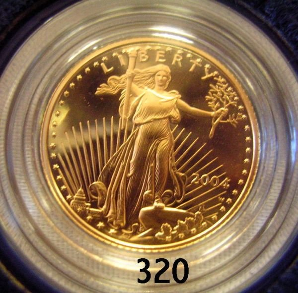 30320: US AMERICAN EAGLE GOLD 1/10 PROOF 2004