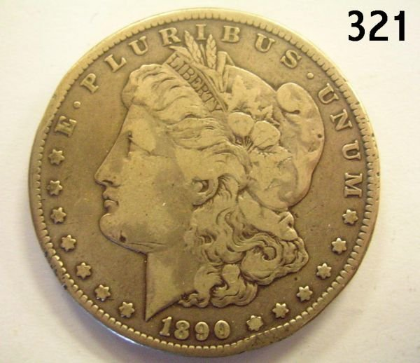 30321: US CARSON CITY MORGAN DOLLAR 1890 F