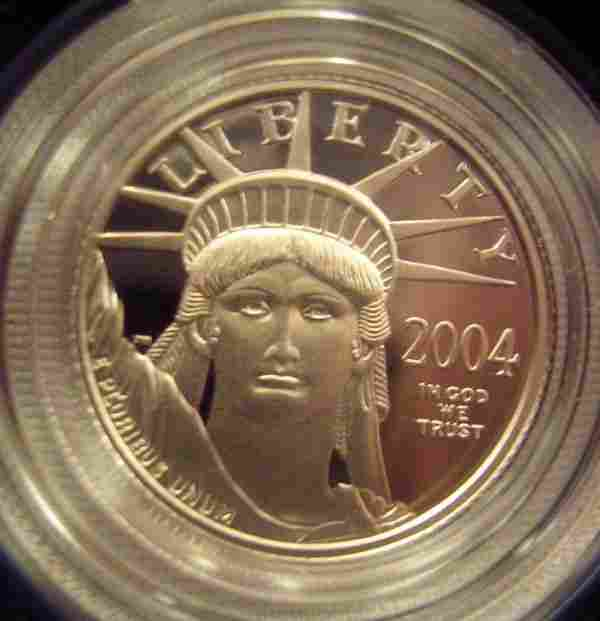 US PLATINUM 1/10 OZ PROOF COIN MINT IN BOX