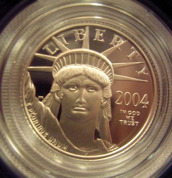 30324: US PLATINUM 1/10 OZ PROOF COIN MINT IN BOX