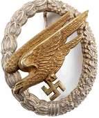 WWII GERMAN 3RD REICH LUFTWAFFE PARATROOPER BADGE