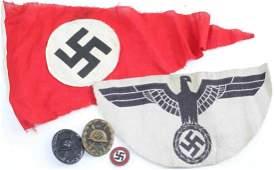 GERMAN WWII THIRD REICH PENNANT TRICOT WOUND BADGE