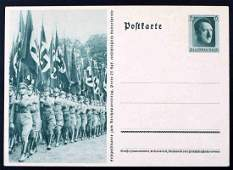 WWII GERMAN THIRD REICH RALLY PHOTO POSTCARD