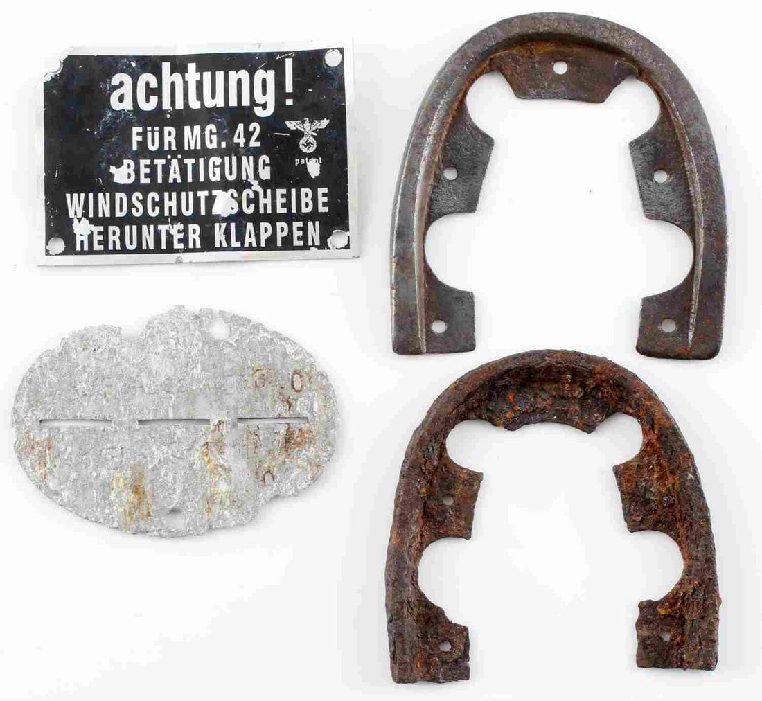 WWII GERMAN THIRD REICH BATTLEFIELD ARTIFACT LOT