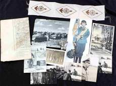 WWII GERMAN THIRD REICH RELATED PATCHES PHOTO MAP
