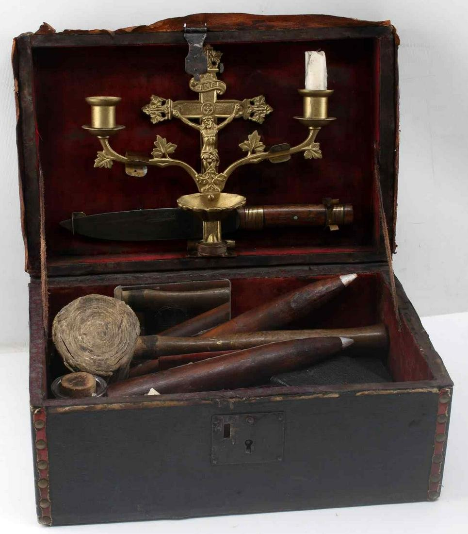 19TH CENTURY VAMPIRE KILLING KIT W PISTOL AND DIRK