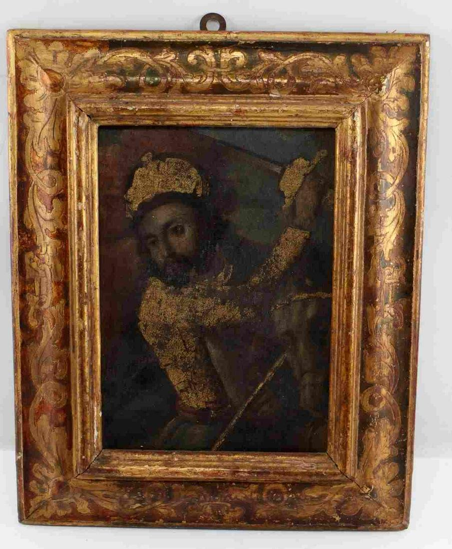 SPANISH COLONIAL STYLE SANTIAGO FRAMED PAINTING