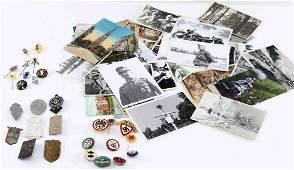 WWII THIRD REICH HITLER YOUTH TINNIES & WAR PHOTOS