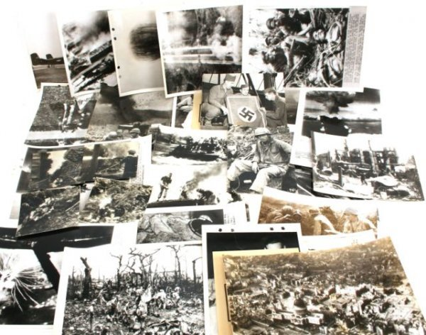 WWII PRESS RELEASE PHOTOGRAPHS ALLIED FIGHTING