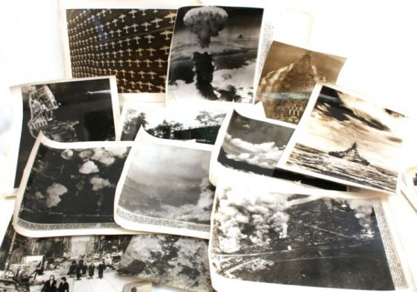 WWII PRESS RELEASE PHOTOGRAPHS ALLIED AERIAL SHOTS