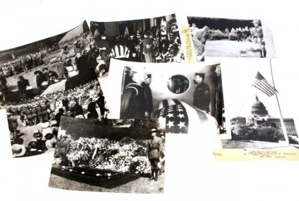 WWII PRESS RELEASE PHOTOGRAPHS FDR's FUNERAL